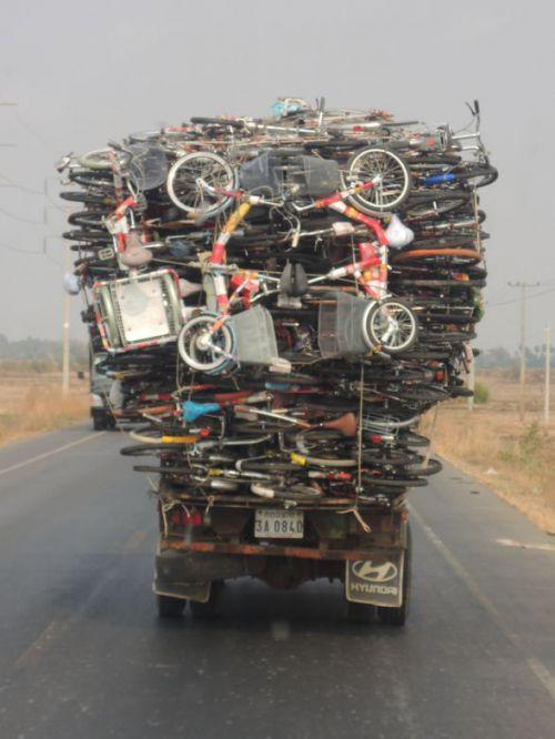 sur la route de Siem Reap