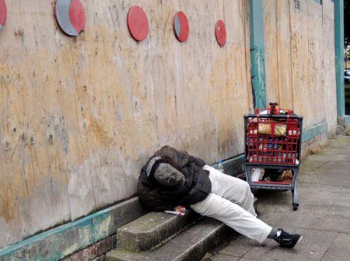 homeless Portland