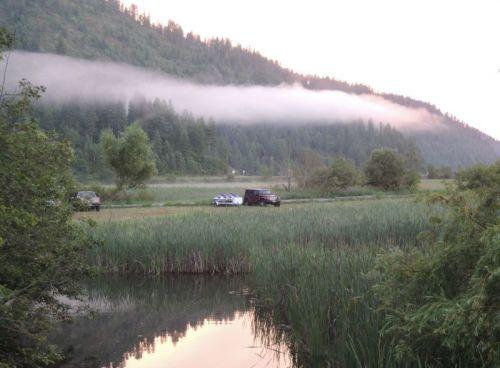 matin au camping