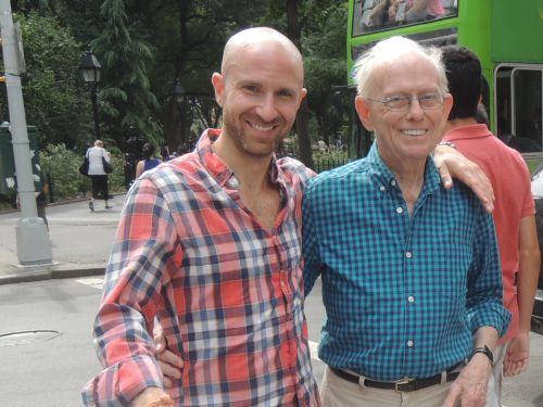 Avec Aaron, acteur et ancien élève de Paul