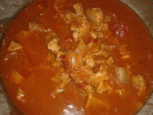 Mijoter de porc à la tomate