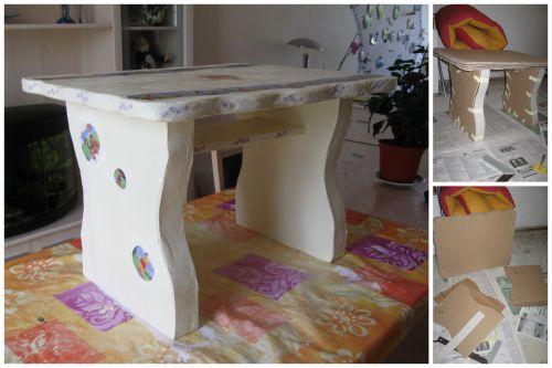 Table pour enfant (en carton)