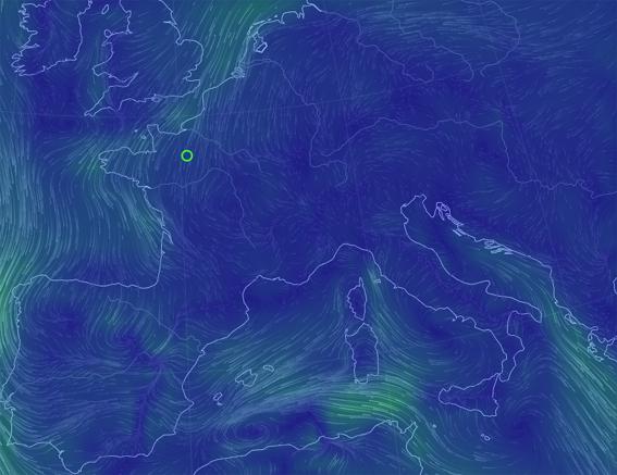 Carte des vents d'Europe en temps réel   GPM   Guide de la