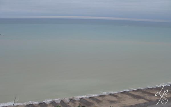 Escale côtière : Côte d'Albâtre Les couleurs de la mer et la plage de Mers-les-Bains Département de la Somme Région Hauts-de-France France