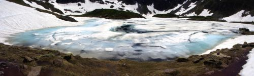 Panoramique du lac gelé
