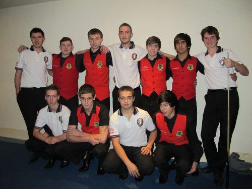 Blackpool 2012 - Les U18 avec les joueurs Gallois avant la finale !