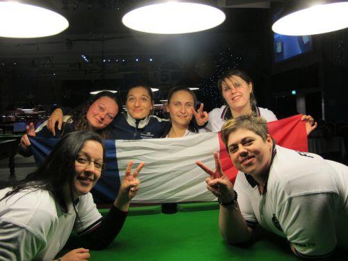 Blackpool 2012 - Les filles Championnes du Monde 2012 avec leur capitaine Vanessa CHAMONAZ (BBCB26)