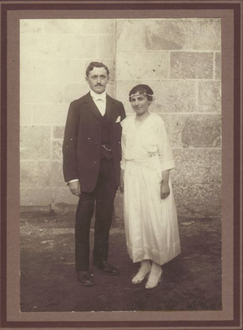 Mariage Jules et Clémence Romeuf 1920
