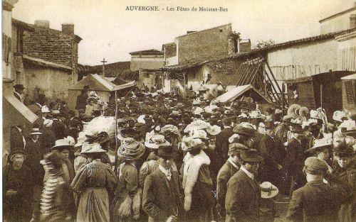 Fête à Moissat bas 1920