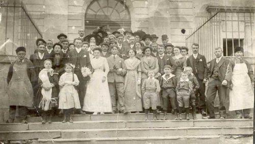 Mariage d'Auguste Pinet et de Marie Nugeyre 1913