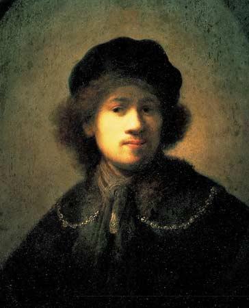 Rembrandt-autoportrait-au-béret-et-a-la-chaine-dor-1630-69x57cm-huile-bois-Liverpool-Walker-museum-1.jpg