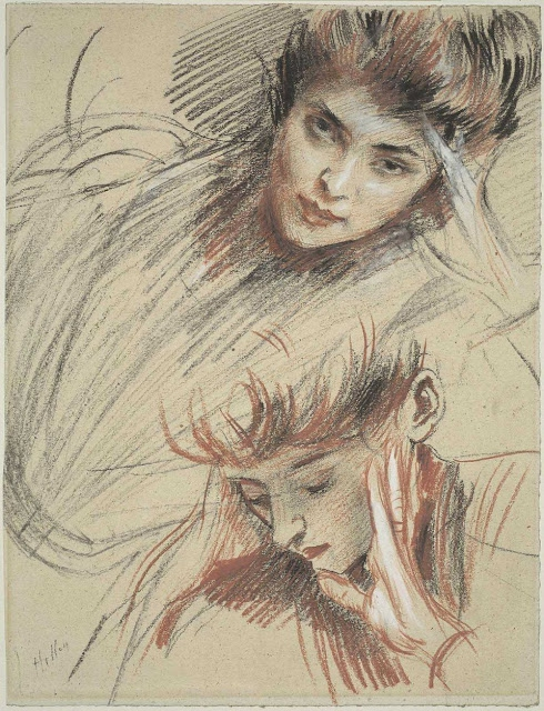 Study of Heads chalk on paper 32.5 x 24.7 cm.jpg