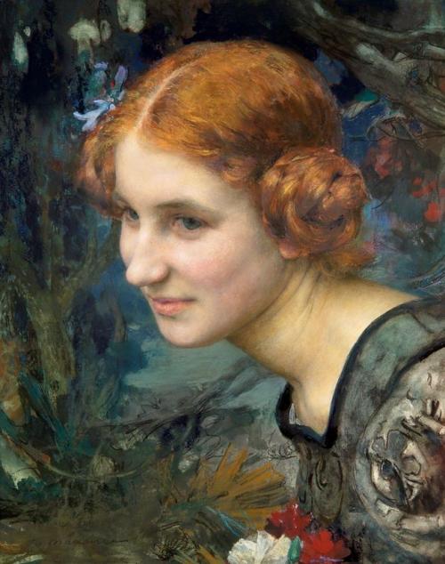 Edgar Maxence Portrait de jeune fille.jpg