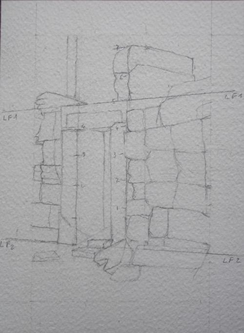etude 18 vieille porte dessin.JPG