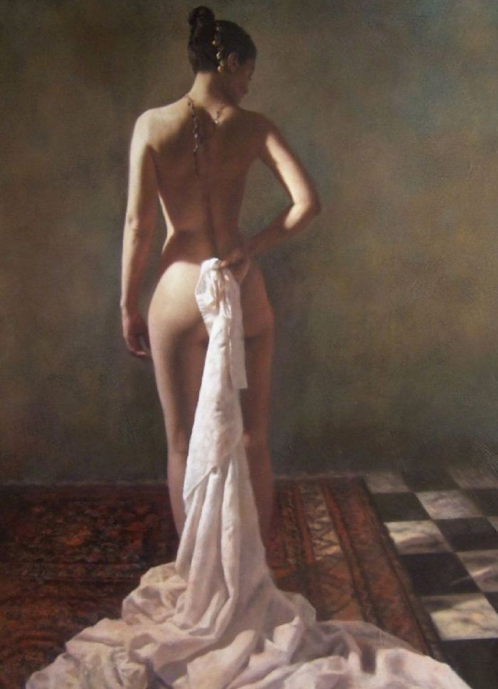 Female Nude Portrait - Hamish Blakely - British Figurative painter - Tutt'Art@ (10).jpg
