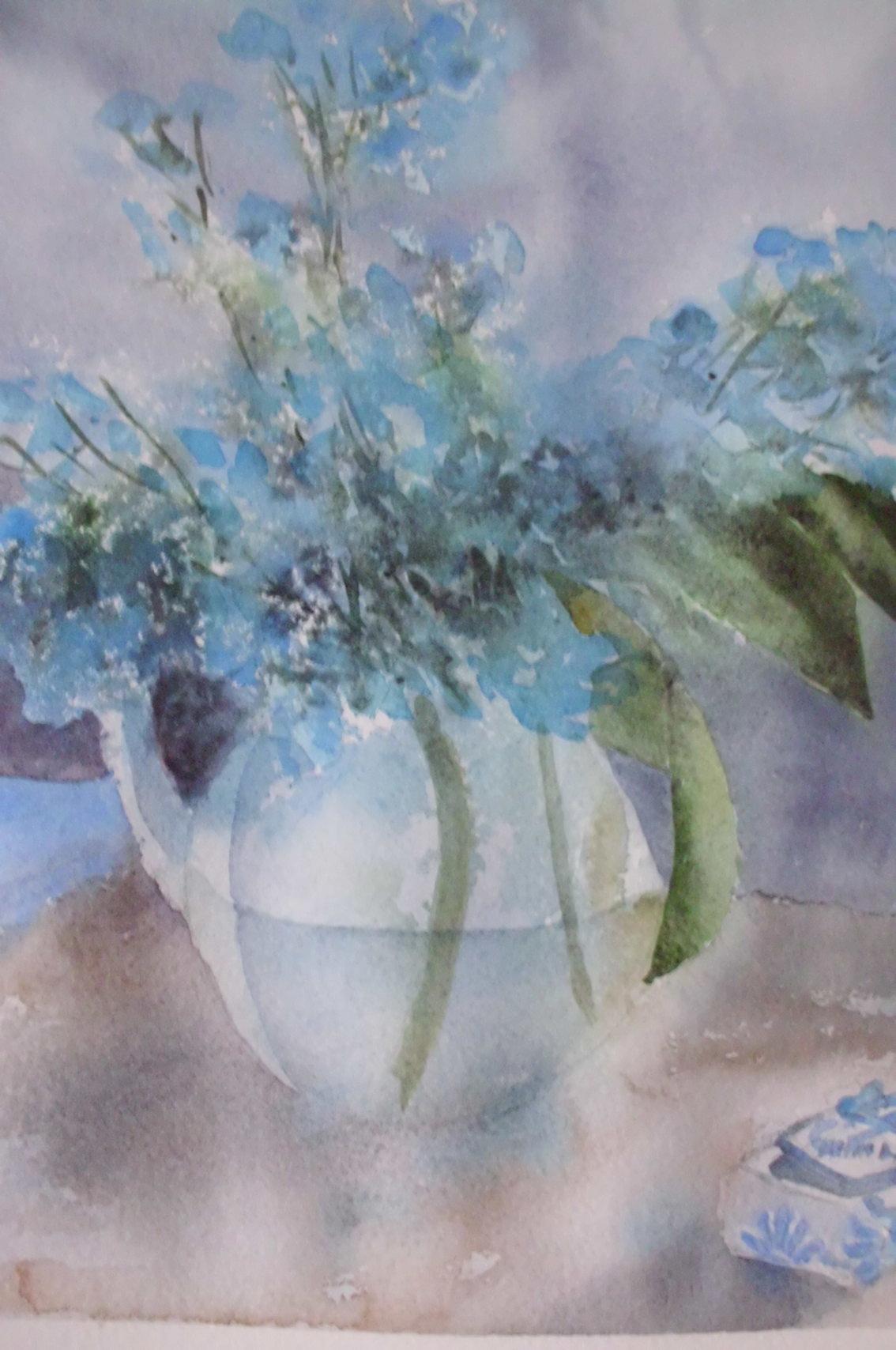 vase fleurs bleues.JPG