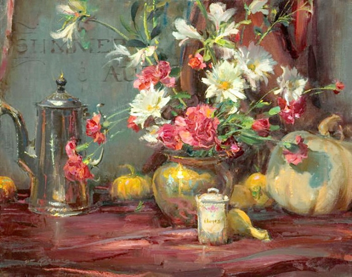 Daniel F. Gerhartz - Ladies and flowers  - Tutt'Art@  (22).jpg