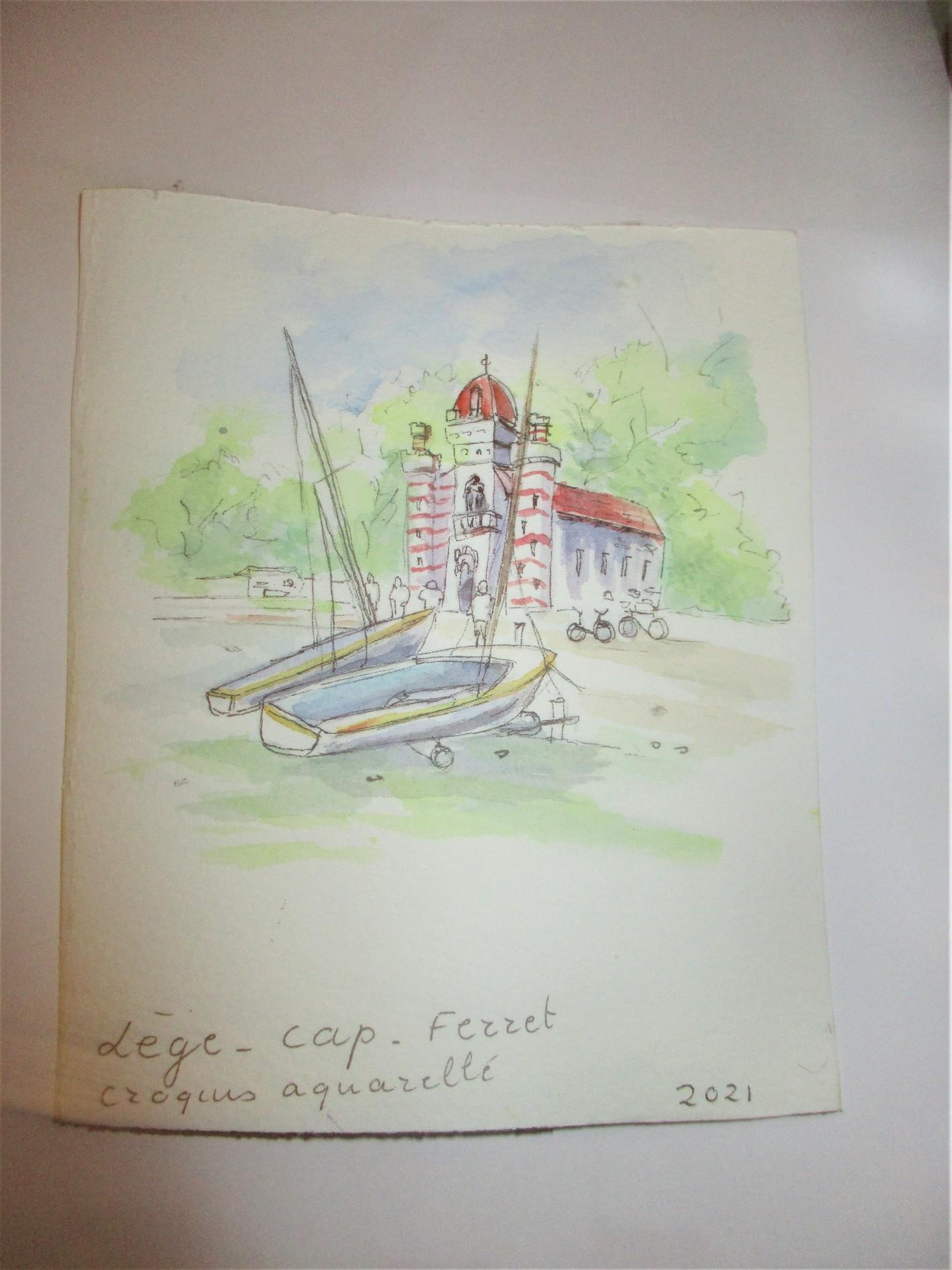 croquis aquarelleCAP FERRET DEVOIR ENVOI A FM Copie