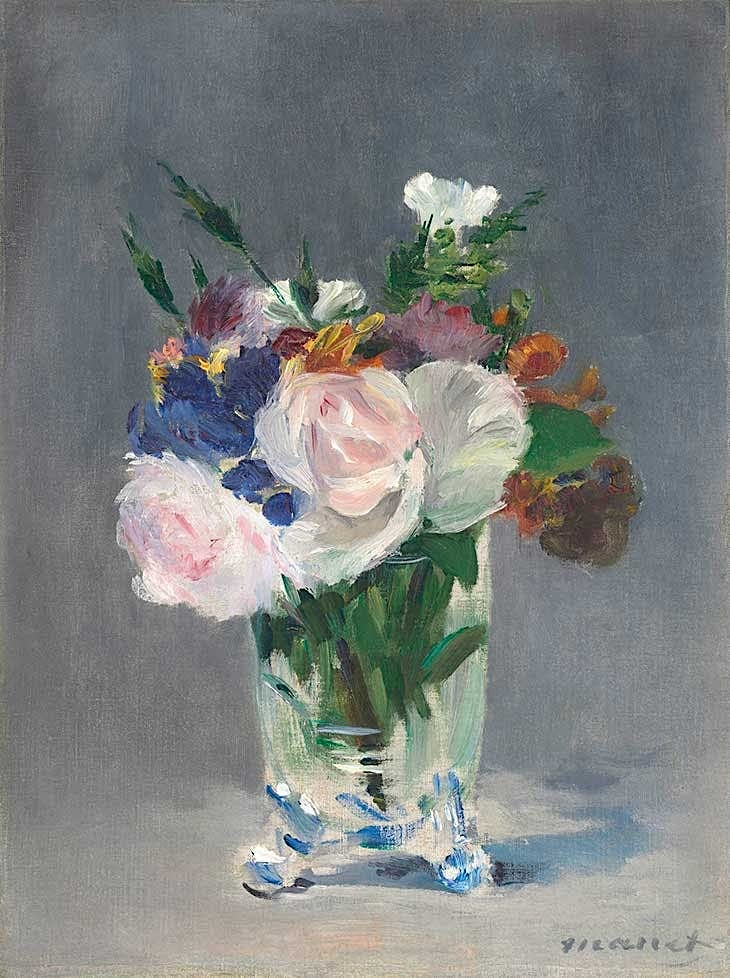 Édouard Manet - Flowers in a Crystal Vase, c