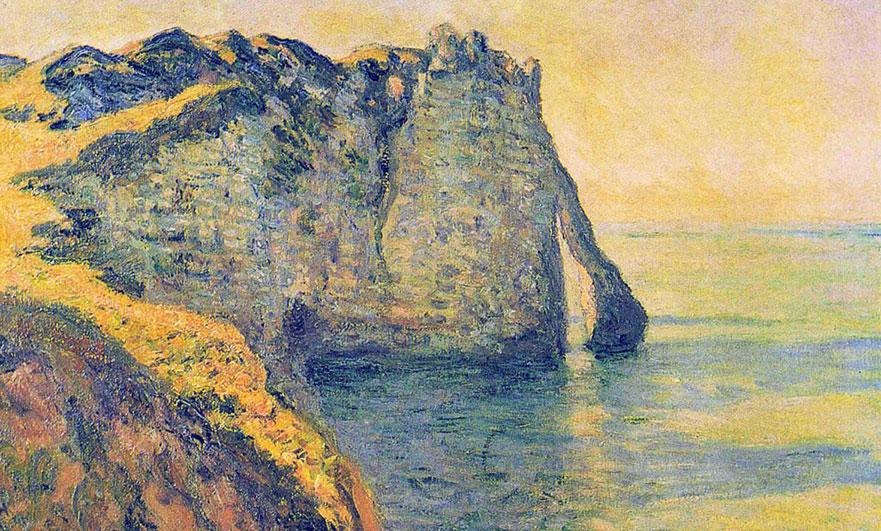 Falaise-dAval-a-Etretat-par-Claude-Monet-1985