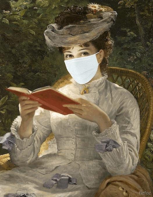 lectrice au masque