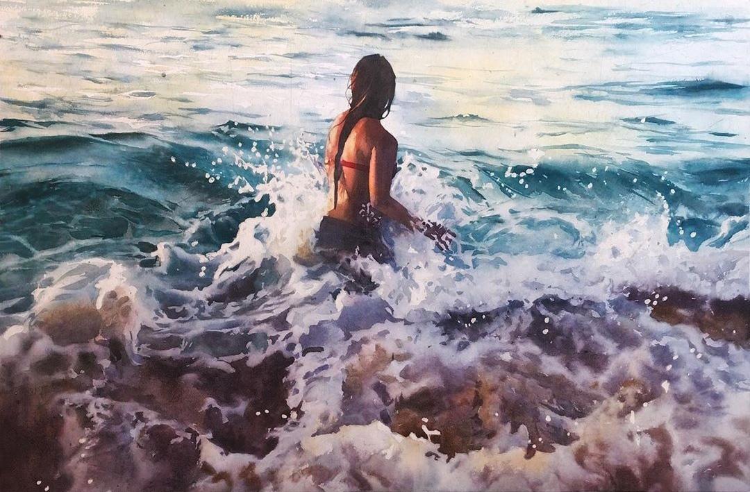 Marcos BECCARI _ Watercolor - Catherine La Rose (5)