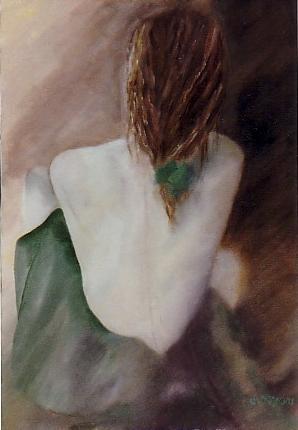 Femme à la jupe verte