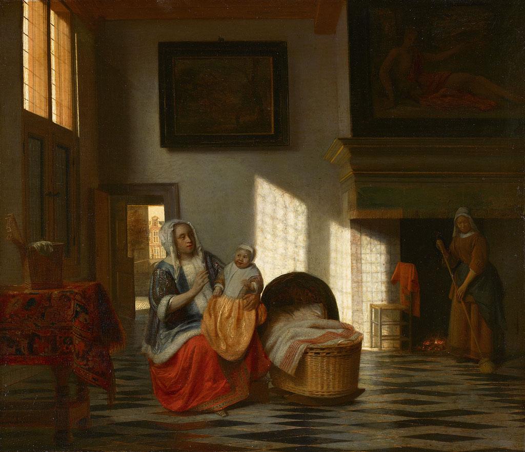 SA_7518-Binnenhuis_met_moeder_en_kind,_\\\'Moedervreugd\\\'