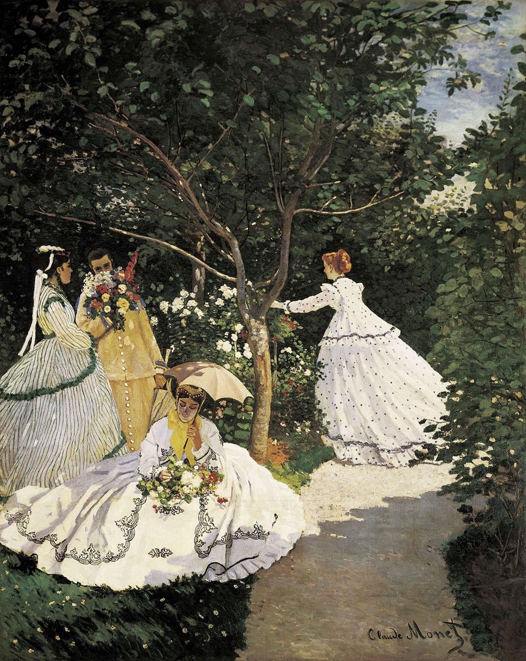 trois-femme-au-jardin-monet