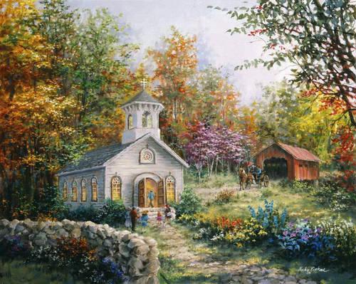 eglise dans paysage fleuri.jpg