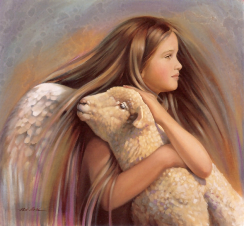 ange et agneau gd cadre.jpg