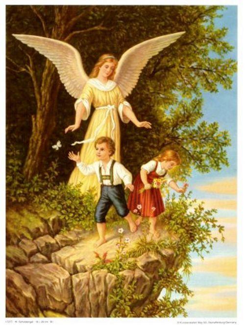 L'ange veille sur les enfants