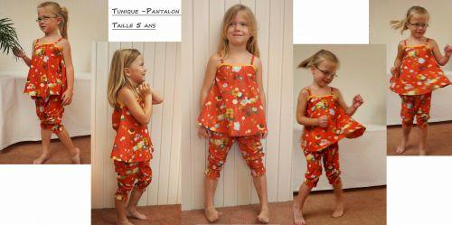 Tunique / pantalon 3/4 en tissus Liberty:  25€