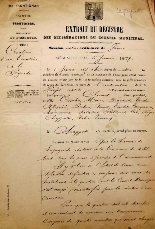 1877 12 janvier décision de faire un cimetière (2).JPG