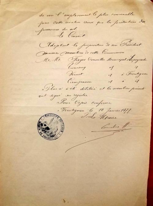 1877 12 janvier décision de faire un cimetière (3).JPG