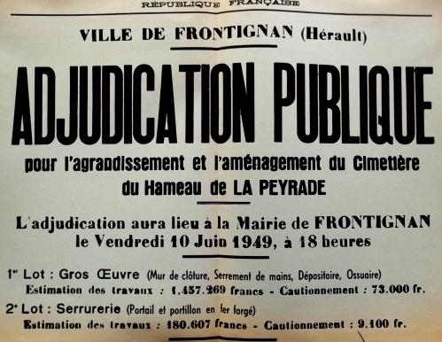 1949  10 juin Agrandissement cimetière.JPG
