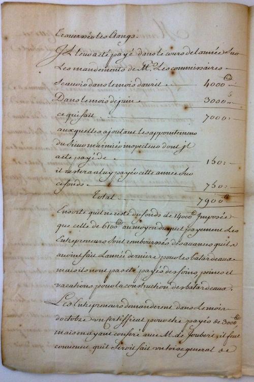 30 chaussee de Frontignan à Cette 2 janvier 1734.JPG
