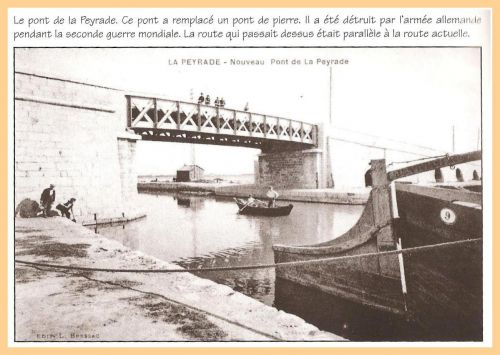 Pont métallique de La Peyrade en 1931