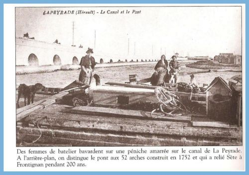 Pont de La Peyrade vers 1920