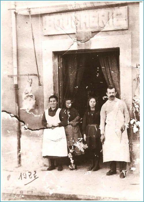 Boucherie Culié en 1922