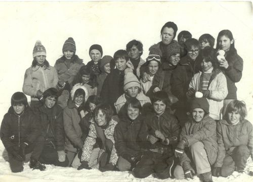 Ecole Marcel Pagnol en 1975 classe de neige