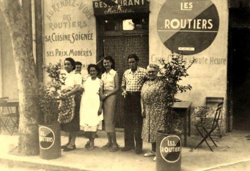 Restaurant routier Mathieu en 1944