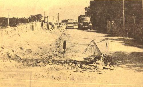Elargissement route du canal en 1975