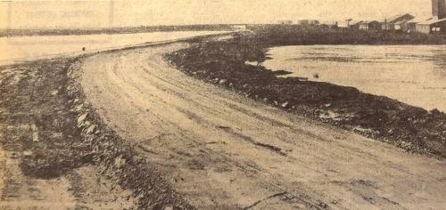Création de la route de Balaruc le long du canal en 1975