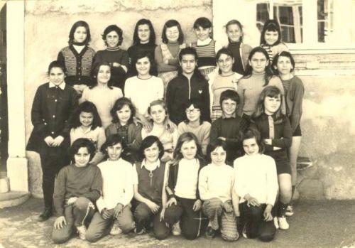 Ecole de La Peyrade CM2 en 1971