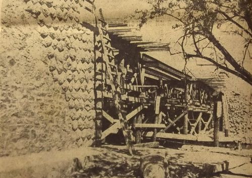 Construction nouveau pont en 1953