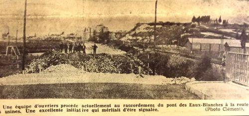 Ouverture pont des Eaux Blanches mars 1954