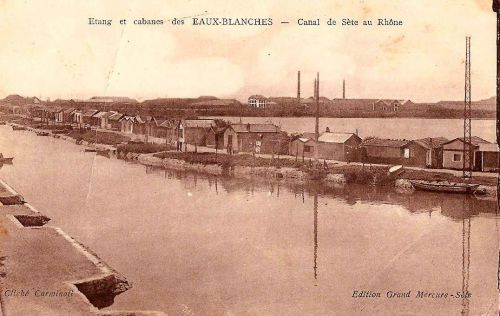 Cabanes des Eaux Blanches vers 1925