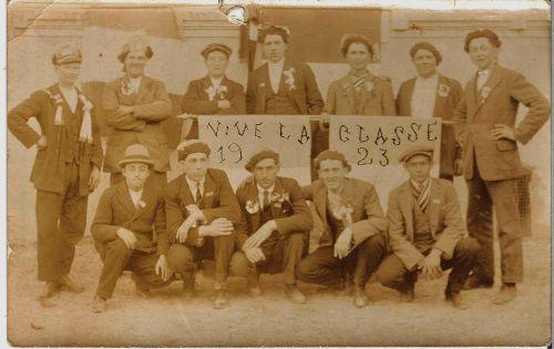 CONSCRITS LA PEYRADOIS EN 1923
