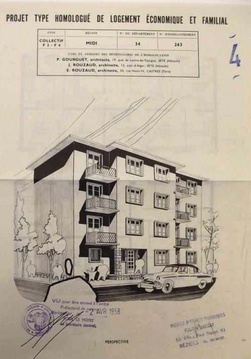 1958 Projet des nouveaux Baticoop